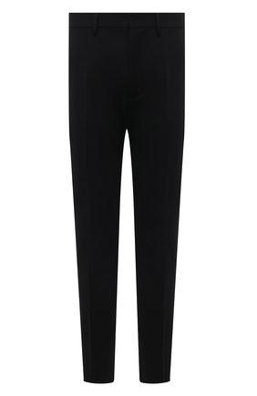 Мужские шерстяные брюки DSQUARED2 черного цвета, арт. S74KB0588/S40320 | Фото 1 (Материал внешний: Шерсть; Длина (брюки, джинсы): Стандартные; Стили: Классический; Материал подклада: Синтетический материал; Случай: Вечерний)