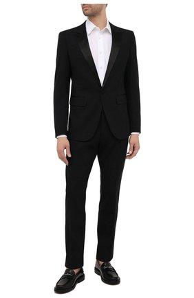 Мужские шерстяные брюки DSQUARED2 черного цвета, арт. S74KB0588/S40320 | Фото 2 (Материал внешний: Шерсть; Длина (брюки, джинсы): Стандартные; Стили: Классический; Материал подклада: Синтетический материал; Случай: Вечерний)