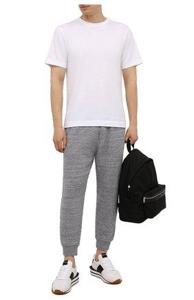 Мужские хлопковые джоггеры DSQUARED2 серого цвета, арт. S74KB0574/S25463 | Фото 2