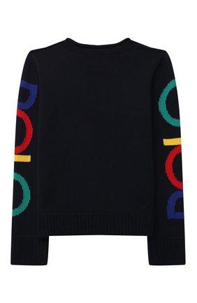 Детский хлопковый пуловер POLO RALPH LAUREN темно-синего цвета, арт. 313846655 | Фото 2