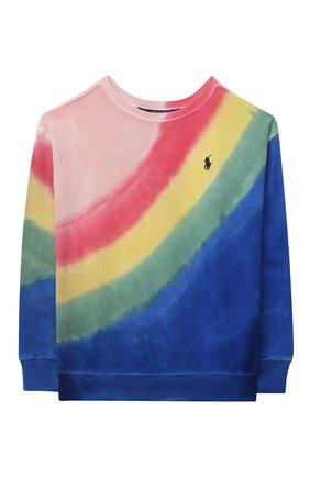 Детский хлопковый свитшот POLO RALPH LAUREN разноцветного цвета, арт. 313841392 | Фото 1
