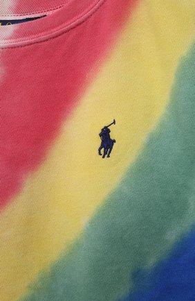 Детский хлопковый свитшот POLO RALPH LAUREN разноцветного цвета, арт. 313841392 | Фото 3