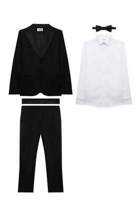 Детский костюм с рубашкой ALETTA черного цвета, арт. N210328-90/9A-16A | Фото 1