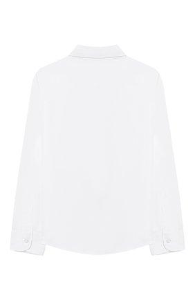 Детская хлопковая рубашка DAL LAGO белого цвета, арт. N402/9017/4-6 | Фото 2 (Рукава: Длинные; Материал внешний: Хлопок; Принт: Без принта; Стили: Классический; Случай: Повседневный; Ростовка одежда: 4 года | 104 см, 5 лет | 110 см, 6 лет | 116 см)
