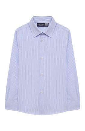 Детская хлопковая рубашка DAL LAGO голубого цвета, арт. N402/2837/4-6 | Фото 1