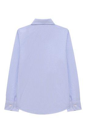 Детская хлопковая рубашка DAL LAGO голубого цвета, арт. N402/2837/4-6 | Фото 2