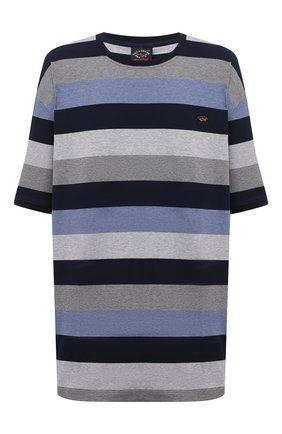 Мужская хлопковая футболка PAUL&SHARK темно-синего цвета, арт. 11311674/C00/3XL-6XL   Фото 1