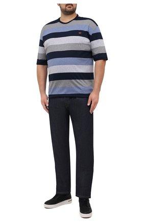 Мужская хлопковая футболка PAUL&SHARK темно-синего цвета, арт. 11311674/C00/3XL-6XL   Фото 2