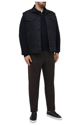 Мужское хлопковое поло BRUNELLO CUCINELLI темно-синего цвета, арт. M0T739769W | Фото 2