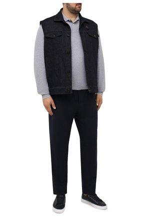 Мужское хлопковое поло BRUNELLO CUCINELLI светло-серого цвета, арт. M0T739769W | Фото 2