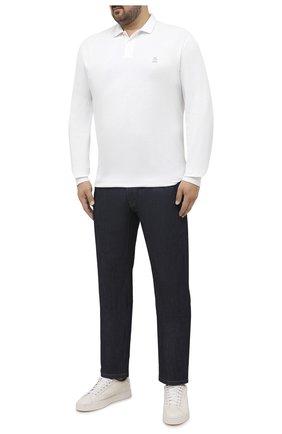 Мужское хлопковое поло BRUNELLO CUCINELLI белого цвета, арт. M0T739769W | Фото 2