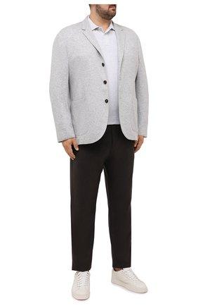 Мужское хлопковое поло BRUNELLO CUCINELLI серого цвета, арт. M0T739769W | Фото 2