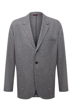 Мужской кашемировый пиджак BRUNELLO CUCINELLI серого цвета, арт. ML8968J01W | Фото 1