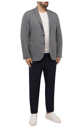 Мужской кашемировый пиджак BRUNELLO CUCINELLI серого цвета, арт. ML8968J01W | Фото 2