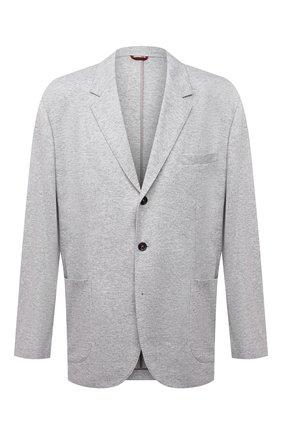 Мужской кашемировый пиджак BRUNELLO CUCINELLI светло-серого цвета, арт. ML8968J01W | Фото 1