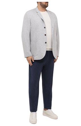 Мужской кашемировый пиджак BRUNELLO CUCINELLI светло-серого цвета, арт. ML8968J01W | Фото 2