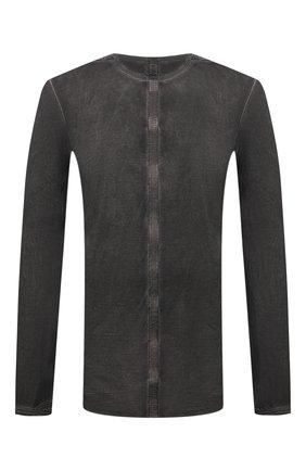 Мужская хлопковый лонгслив ISAAC SELLAM темно-серого цвета, арт. ARRETE STX2-JERSEY H22   Фото 1