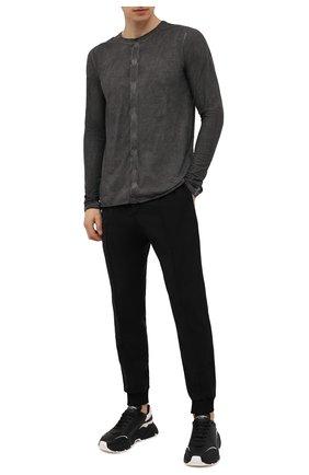 Мужская хлопковый лонгслив ISAAC SELLAM темно-серого цвета, арт. ARRETE STX2-JERSEY H22   Фото 2