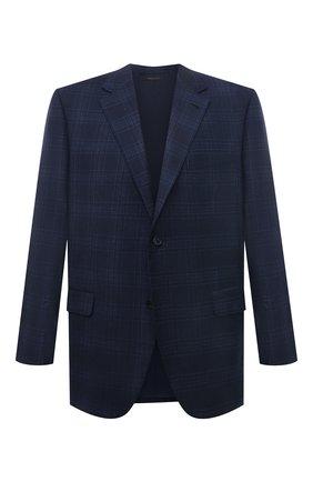 Мужской шерстяной пиджак BRIONI темно-синего цвета, арт. RGH00L/09A6X/PARLAMENT0   Фото 1