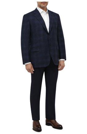 Мужской шерстяной пиджак BRIONI темно-синего цвета, арт. RGH00L/09A6X/PARLAMENT0   Фото 2