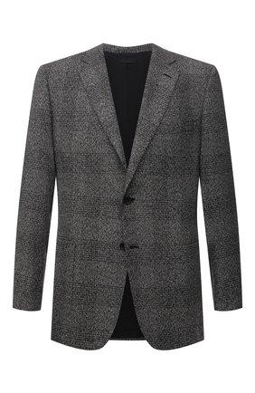 Мужской пиджак из шелка и кашемира BRIONI серого цвета, арт. RG0J0L/01478/BRUNIC0   Фото 1