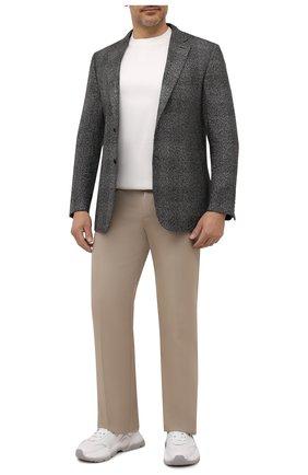 Мужской пиджак из шелка и кашемира BRIONI серого цвета, арт. RG0J0L/01478/BRUNIC0   Фото 2