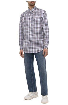 Мужская хлопковая рубашка PAUL&SHARK разноцветного цвета, арт. 11313070/C00 | Фото 2