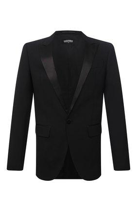 Мужской шерстяной пиджак DSQUARED2 черного цвета, арт. S74BN1087/S40320 | Фото 1