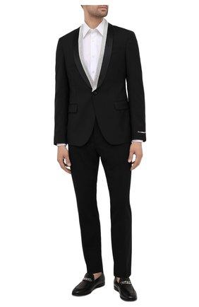 Мужской шерстяной пиджак VERSACE черного цвета, арт. 1001255/1A00892 | Фото 2