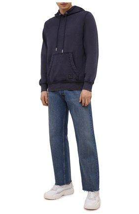 Мужской хлопковое худи DIESEL темно-синего цвета, арт. A02715/0WBBG | Фото 2