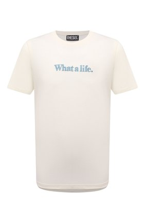 Мужская футболка DIESEL кремвого цвета, арт. A02817/0GRAM | Фото 1