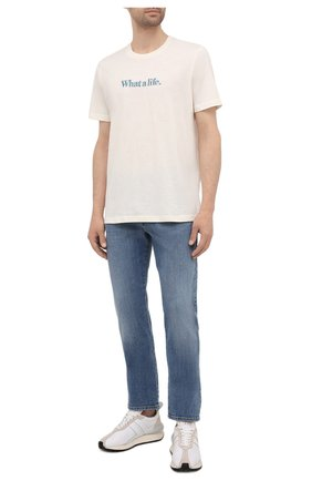Мужская футболка DIESEL кремвого цвета, арт. A02817/0GRAM | Фото 2