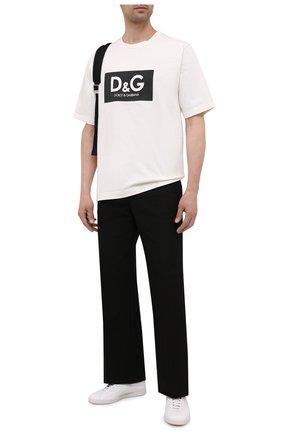 Мужская хлопковая футболка DOLCE & GABBANA белого цвета, арт. G8NG4T/HU7IL | Фото 2