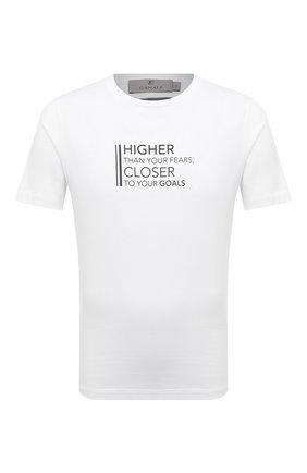 Мужская хлопковая футболка CANALI белого цвета, арт. T0003/MY01316 | Фото 1 (Длина (для топов): Стандартные; Материал внешний: Хлопок; Стили: Кэжуэл; Рукава: Короткие; Принт: С принтом)