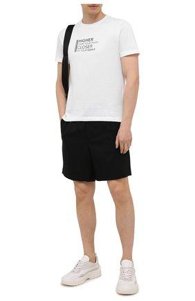 Мужская хлопковая футболка CANALI белого цвета, арт. T0003/MY01316 | Фото 2 (Длина (для топов): Стандартные; Материал внешний: Хлопок; Стили: Кэжуэл; Рукава: Короткие; Принт: С принтом)