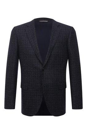 Мужской шерстяной пиджак CANALI темно-синего цвета, арт. 11280/CF01757/112 | Фото 1