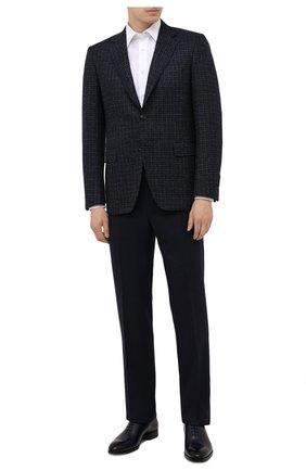 Мужской шерстяной пиджак CANALI темно-синего цвета, арт. 11280/CF01757/112 | Фото 2