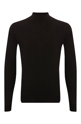 Мужской шерстяная водолазка JOHN SMEDLEY темно-коричневого цвета, арт. HARC0URT | Фото 1