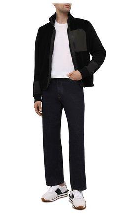 Мужская шерстяная футболка Z ZEGNA белого цвета, арт. VY391/ZZT678 | Фото 2 (Материал внешний: Шерсть; Рукава: Короткие; Длина (для топов): Стандартные; Принт: Без принта; Стили: Кэжуэл)