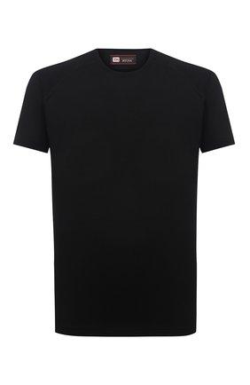 Мужская шерстяная футболка Z ZEGNA черного цвета, арт. VY390/ZZT678 | Фото 1