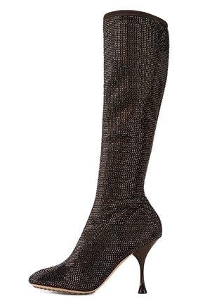 Женские сапоги dot BOTTEGA VENETA темно-коричневого цвета, арт. 667172/V15G1 | Фото 1