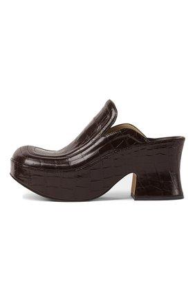 Женские мюли wedge BOTTEGA VENETA темно-коричневого цвета, арт. 667212/V10O0 | Фото 1