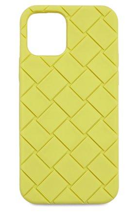 Чехол для iphone 12 pro BOTTEGA VENETA салатового цвета, арт. 670188/V0EY0   Фото 1