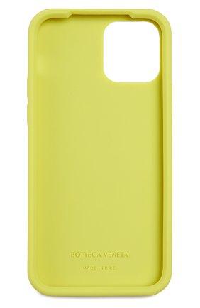 Чехол для iphone 12 pro BOTTEGA VENETA салатового цвета, арт. 670188/V0EY0   Фото 2