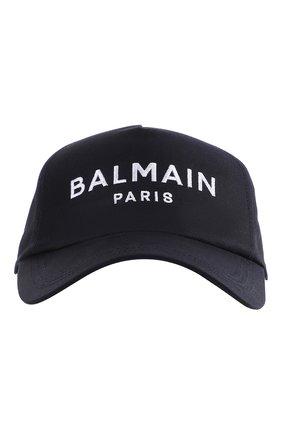 Женская бейсболка BALMAIN темно-синего цвета, арт. WH1XA000/C084 | Фото 1