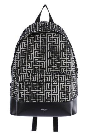 Женский рюкзак 1945 BALMAIN черно-белого цвета, арт. WM1GE150/TJMY | Фото 1