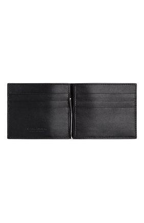 Мужской кожаный зажим для денег BOTTEGA VENETA черного цвета, арт. 592626/V0SQ1   Фото 2