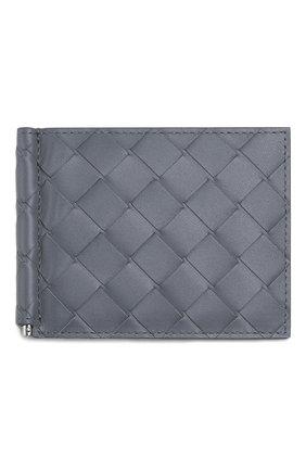 Мужской кожаный зажим для денег BOTTEGA VENETA серого цвета, арт. 592626/VCPQ4   Фото 1