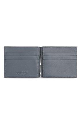 Мужской кожаный зажим для денег BOTTEGA VENETA серого цвета, арт. 592626/VCPQ4   Фото 2