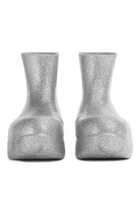 Мужские резиновые сапоги puddle BOTTEGA VENETA серебряного цвета, арт. 640043/V10Q0 | Фото 1